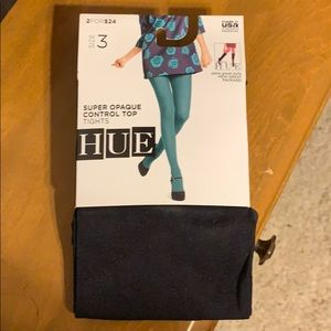 New Hue black opaque tights size 3